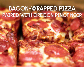 Pairing Little Caesars Bacon Wrapped Pizza With Pinot Noir