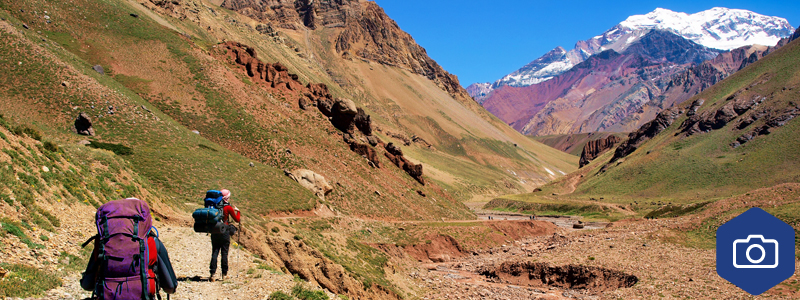 Hiking in the Andes