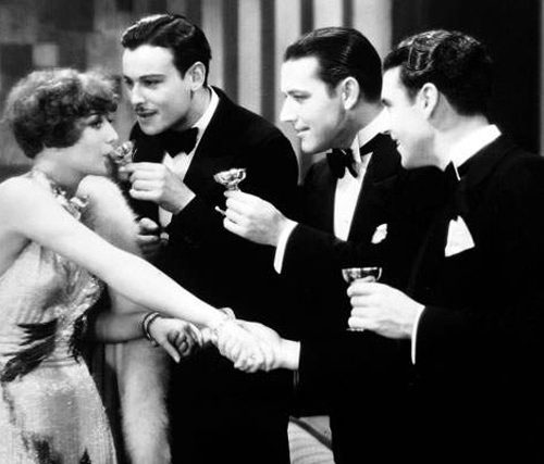 Joan Crawford Sipping Champagne