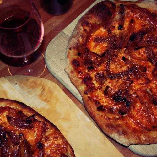 Pizza With Red Peppers