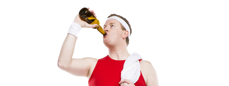 Grab a beer instead of a protein shake after your next workout.