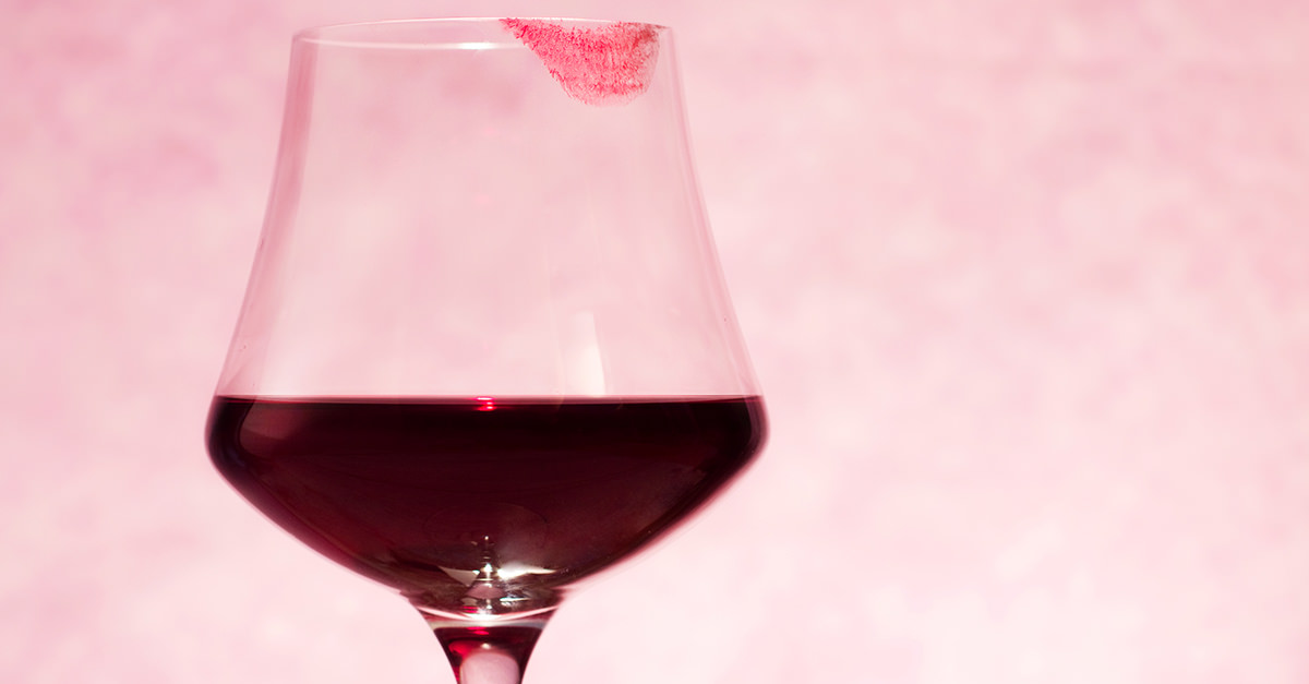 The Simple Trick To Keep Your Lipstick Off Your Wine Glass