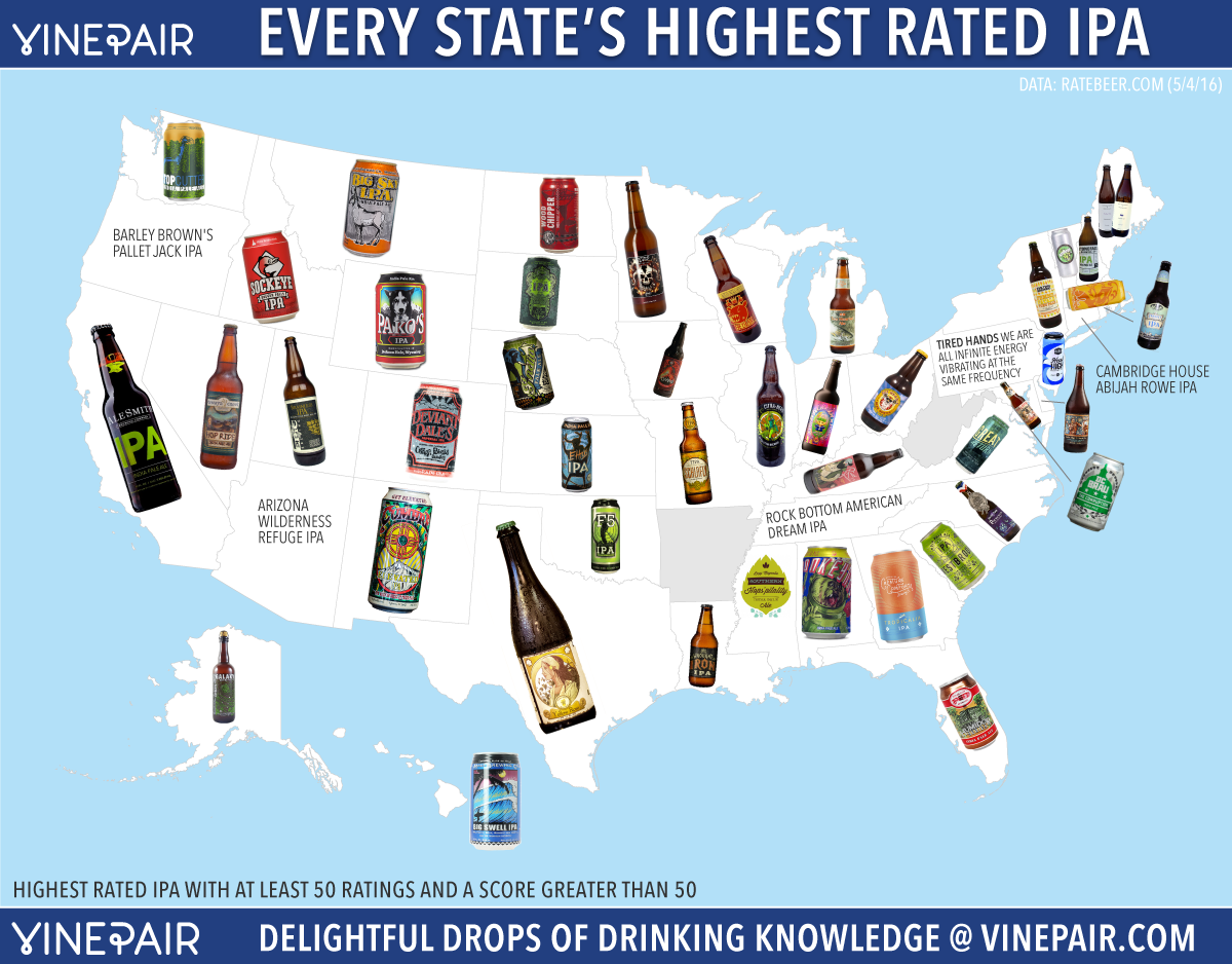 The Highest Rated IPA In Every State
