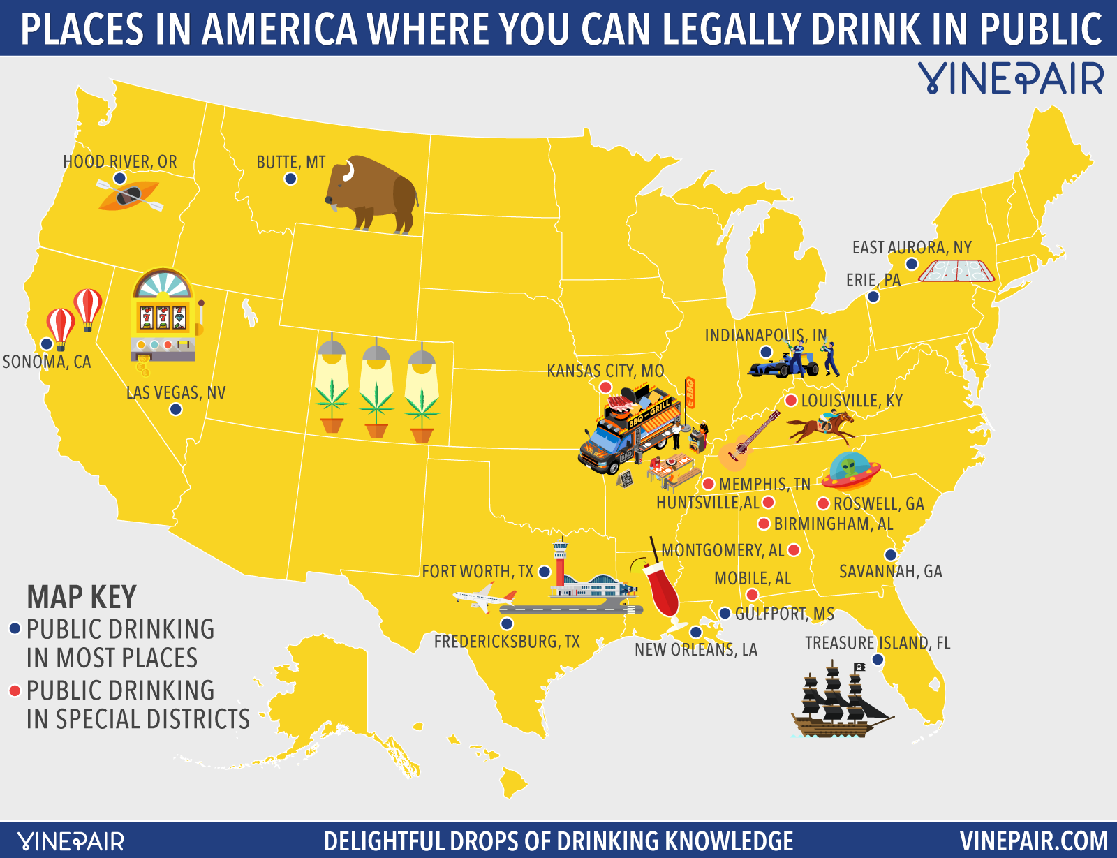 Map Every Place In The U S Where You Can Drink In Public