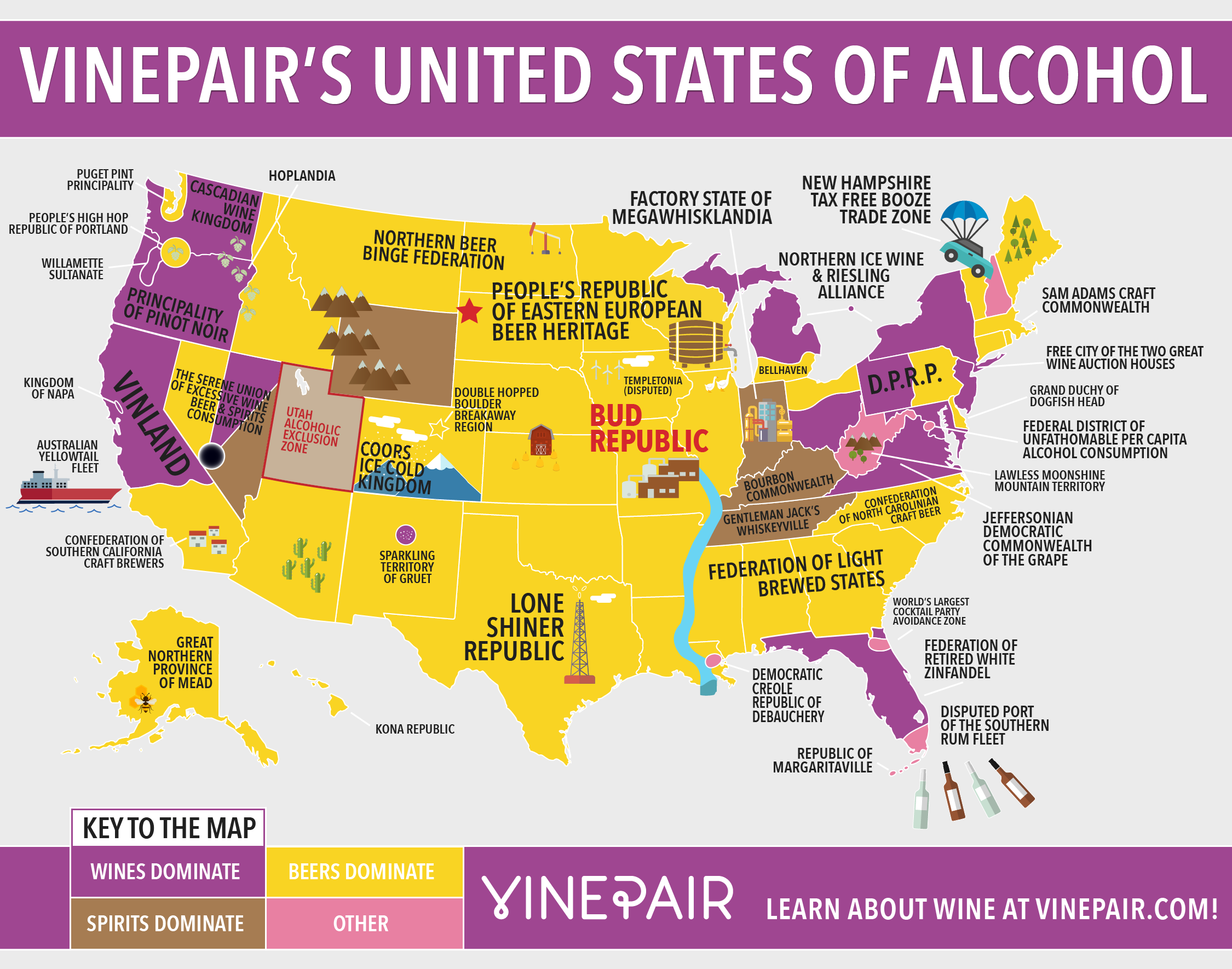 MAP: The United States Of Alcohol | VinePair