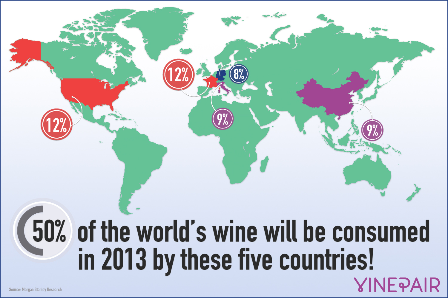 The Five Countries That Drink Half The Worlds Wine