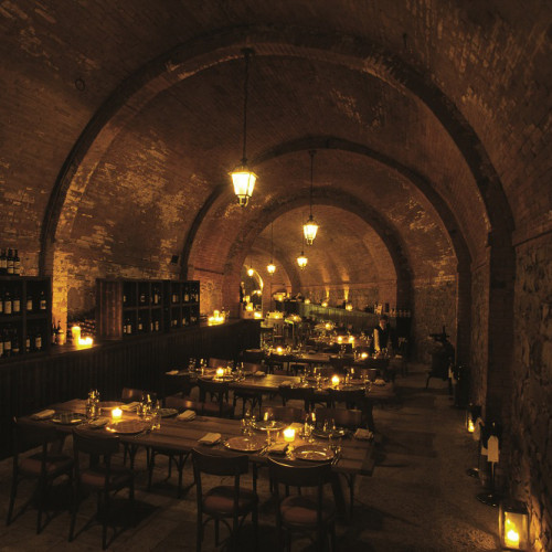 Dining In The Cellar At Castel Monastero