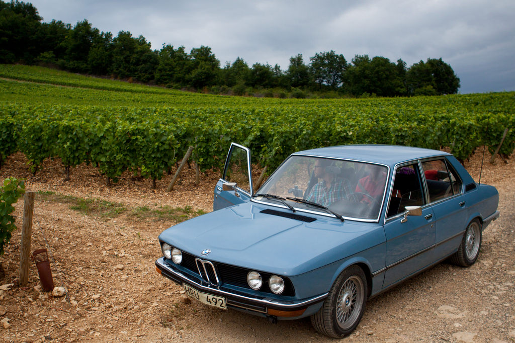 A BMW in Burgundy