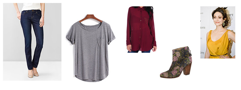 Wear this casual look to a cocktail bar