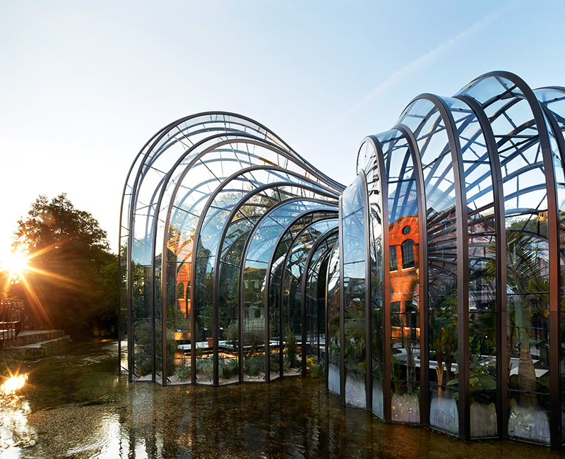 The Bombay Sapphire distillery is gorgeous