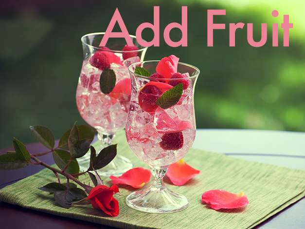 Add fruit to rose wine