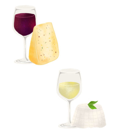 An Illustrated Guide To Pairing Wine And Cheese