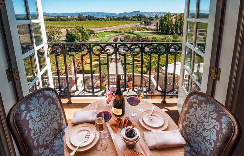 Domaine Carneros is a winery with a great view