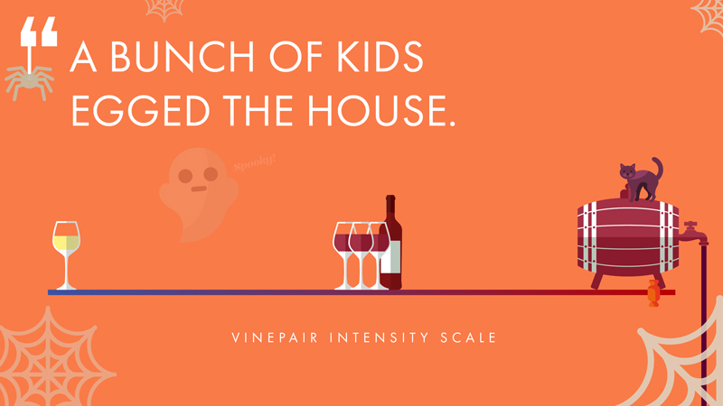 A bunch of kids egged the house - Red Bordeaux