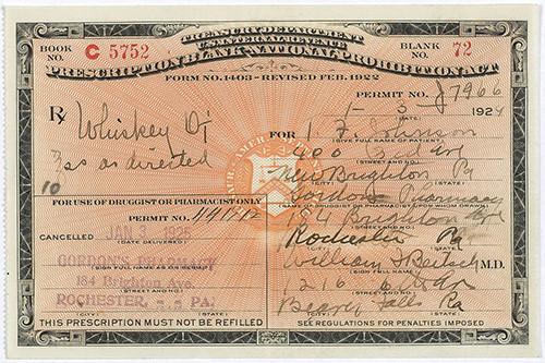 A Prohibition-era Prescription For Whiskey