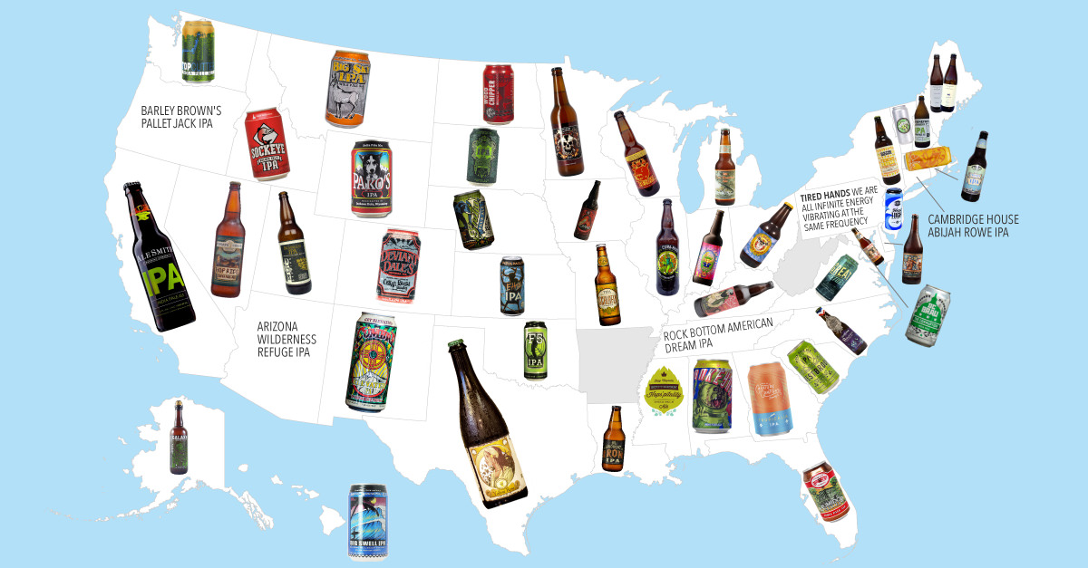 MAP: The Highest Rated IPA In Every State