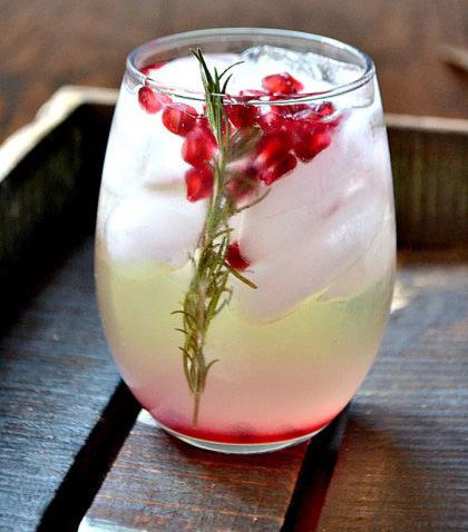 Pomegranate Rosemary Sangria