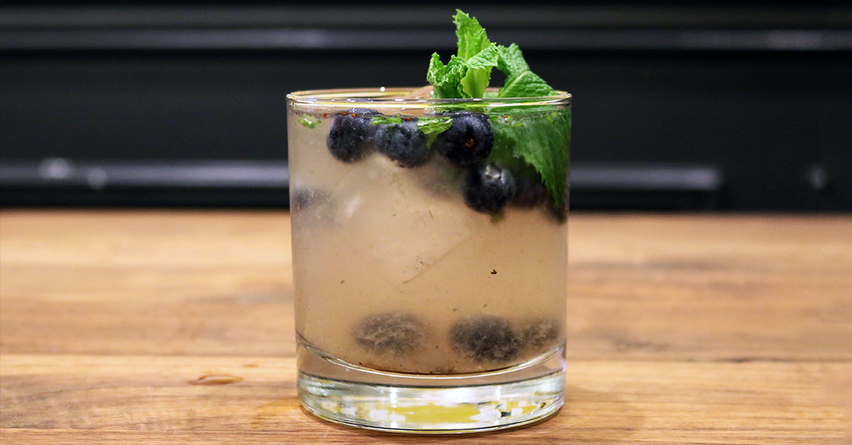 Fresh Blueberry Summer Mojito