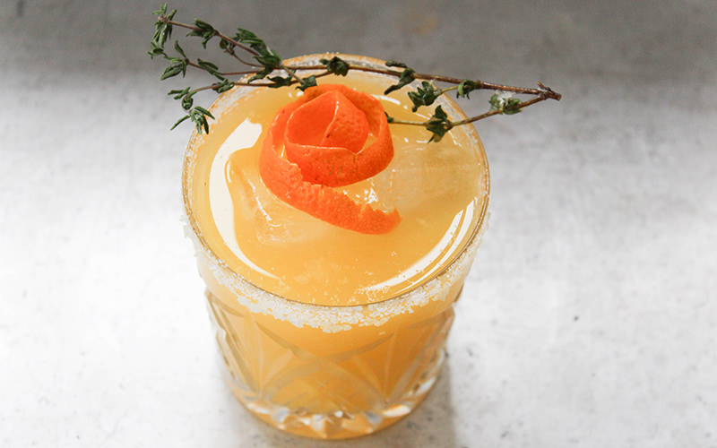 Smoky Orange and Thyme Margarita