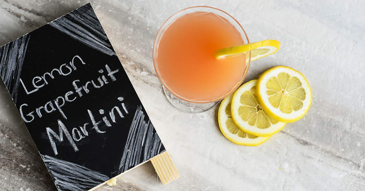 Lemon Grapefruit Martini [Recipe]