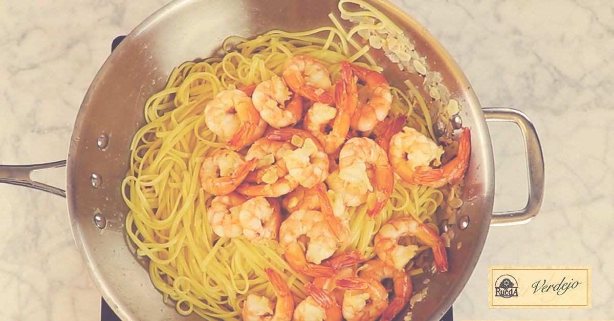 Shrimp Scampi With Rueda Verdejo White Wine Sauce – Recipe