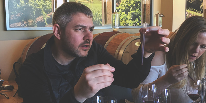 Blending Wine At Conn Creek In Napa Valley