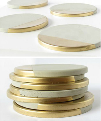 Dress up your drinks with these Cement Gold Embellished coasters, perfect for all of your Instagram pics!