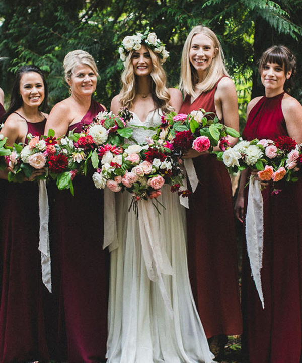 red dresses for th eultimate wine themed wedding