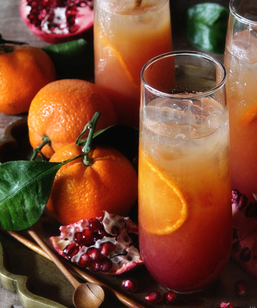 The Satsuma and Pomegranate Campari is the perfect Campari cocktail for branching out from Negronis