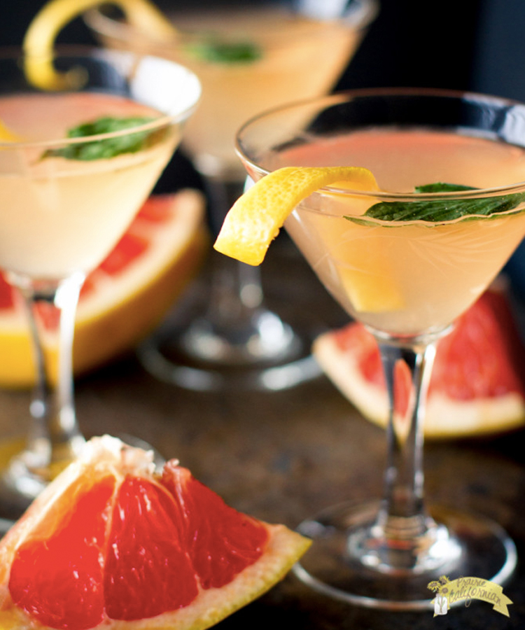 This Grapefruit Basil Martini is a mouthwatering martini recipe to make this summer