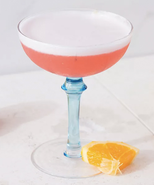 This Gin Campari Sour is a great cocktail to make to utilize your new coupe glasses