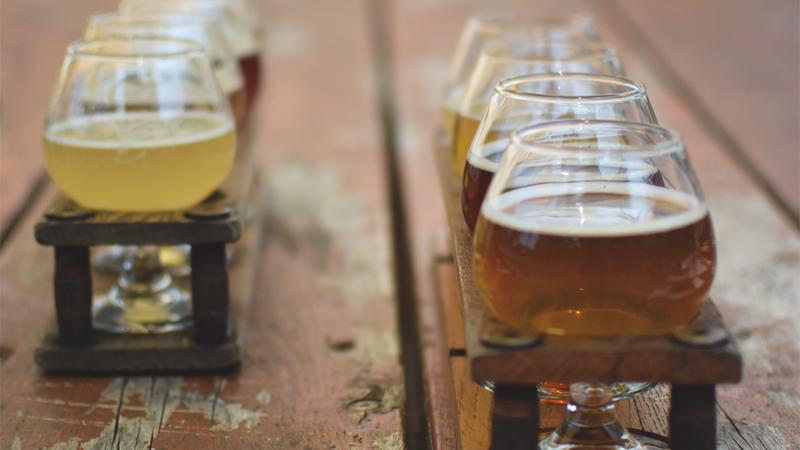 allagash beer flight