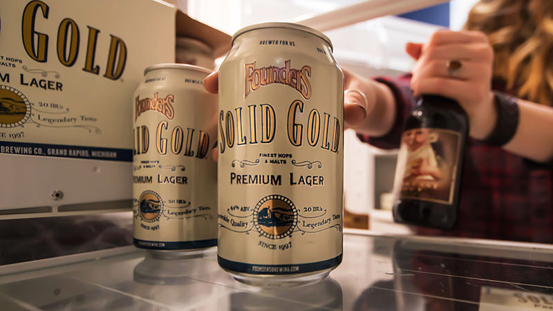 Founders Solid Gold is a newly released craft lager.