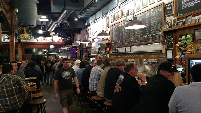 The taproom at Russian River Brewing is always at capacity.