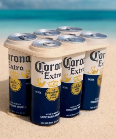 Corona to Trial Eco-Friendly, Plastic-Free Six-Pack Rings