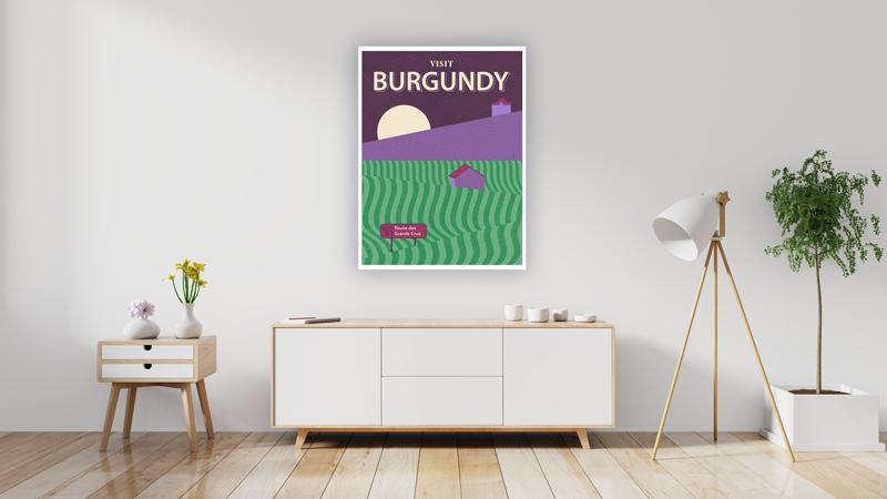 Burgundy Wine Region Travel Poster