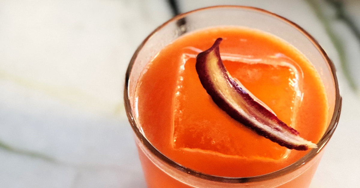 This cocktail from Momofuku Las Vegas features a carrot-ginger shrub that stands up to the mix of rye, sherry, citrus, and two types of bitters. Learn how to make the recipe.