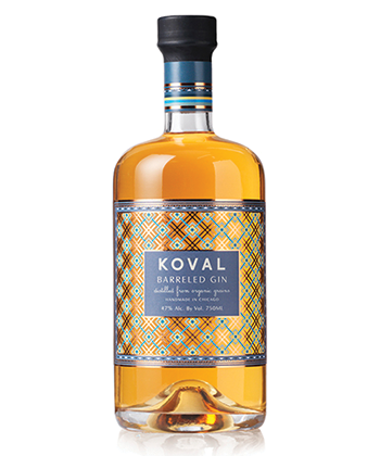 KOVAL Barreled Gin is one of the best barrel-aged gins