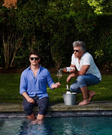 Rosé-Loving Jesse Bongiovi and Dad, Jon Bon Jovi, Teach Us 'the Exhale'