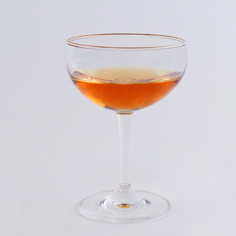 Best Leopold Gold Rimmed Coupe Glass