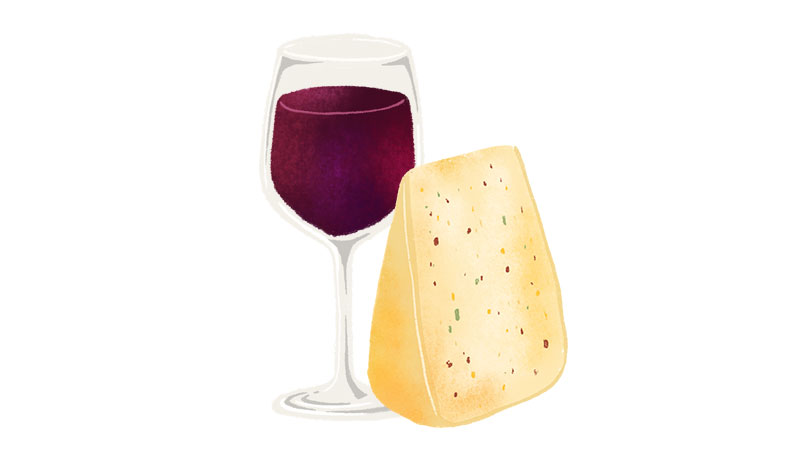 Monterey jack goes well with Merlot
