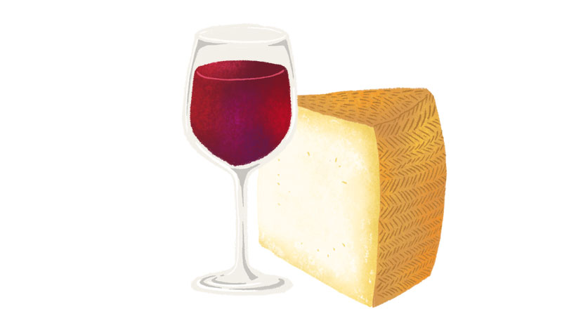 Rioja goes well with Manchego cheese
