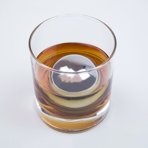 This stainless steel whiskey sphere is an essential home bar tool you can order online