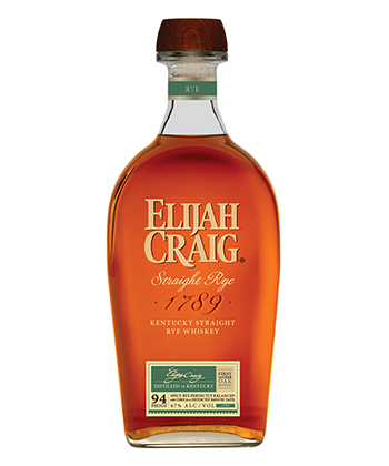 Elijah Craig is one of the 20 Best Rye Whiskey Brands of 2020