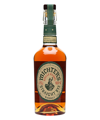Michter's is one of the 20 Best Rye Whiskey Brands of 2020