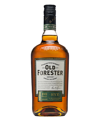 Old Forester is one of the 20 Best Rye Whiskey Brands of 2020