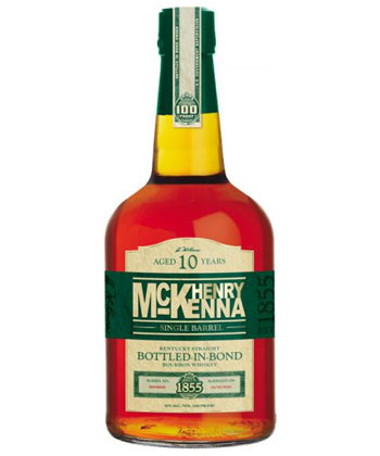 Henry McKenna 10 year is one of the best bottled in bond bourbons according to bartenders