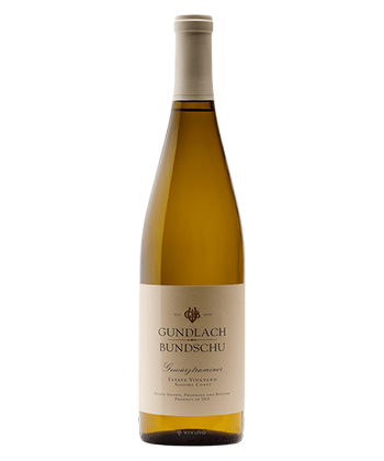Gundlach-Bundschu Estate Vineyard Gewürztraminer 2019 is one of the 50 best wines of 2020