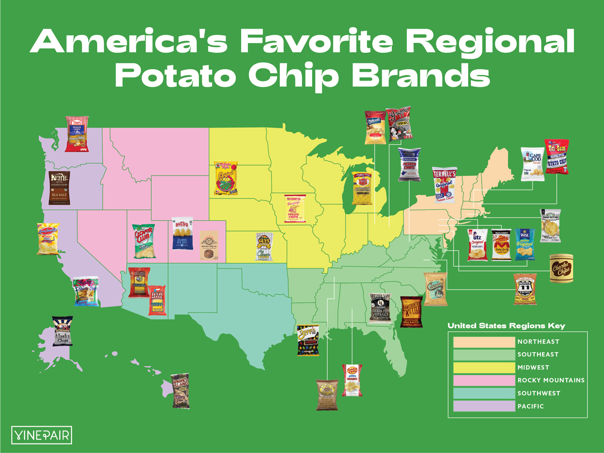 These are the 33 best regional potatochip brands in America.