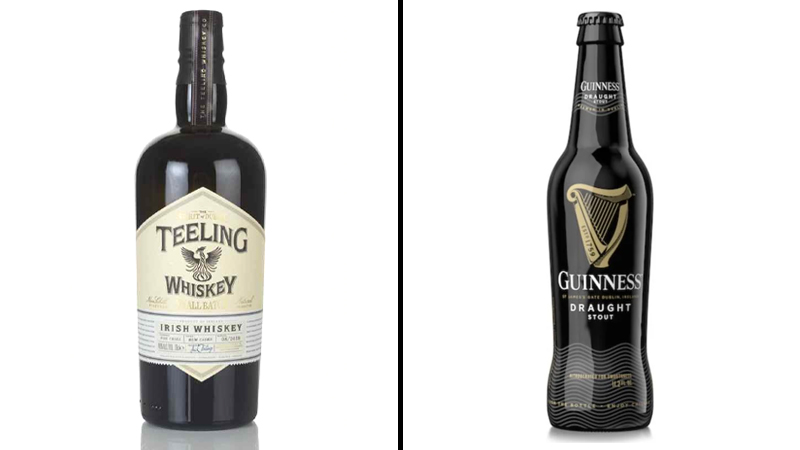 Teeling small batch whiskey + Guinness